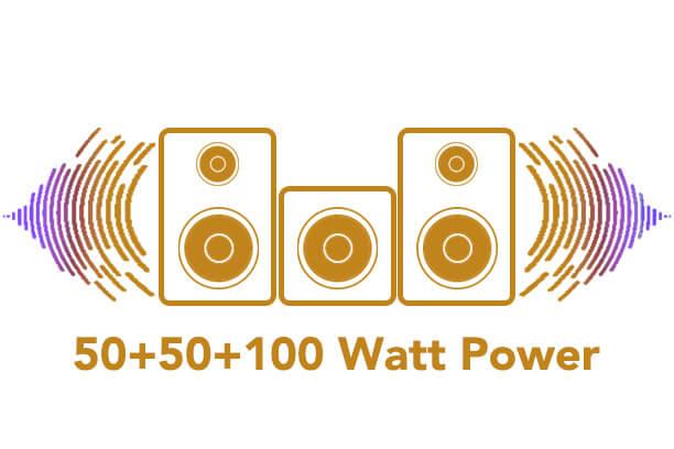50+50+100watt power