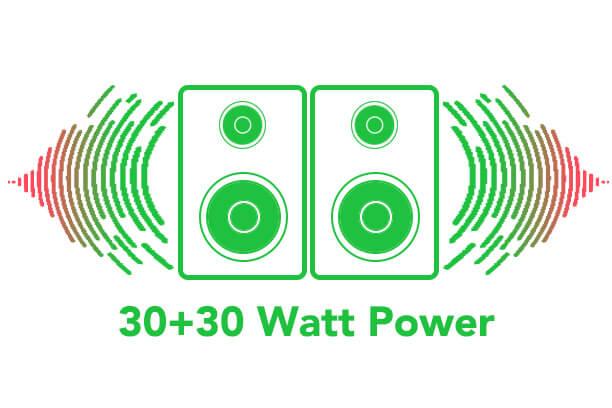 30+30watt power